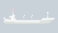 Sound signals of a vessel aground over 100 m in restricted visibility